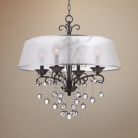 Quoizel Carrabelle 4-Light French Bronze Chandelier