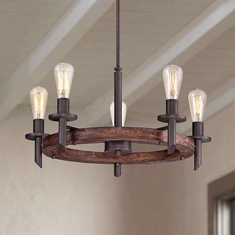 Quoizel Tavern 5-Light Dark Bronze Chandelier