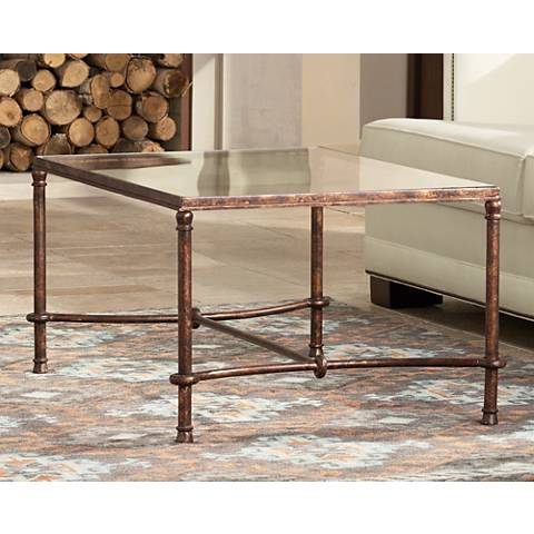 Uttermost Warring Rustic Bronze Patina Coffee Table