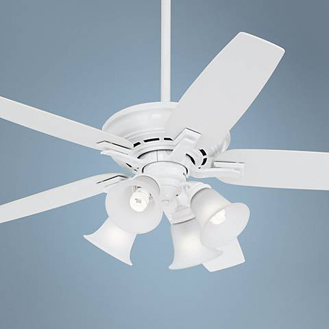 "52"" Casablanca Academy 4-Light White Ceiling Fan"