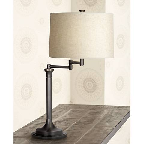 Robert Abbey Sofia Patina Bronze Swing Arm Desk Lamp