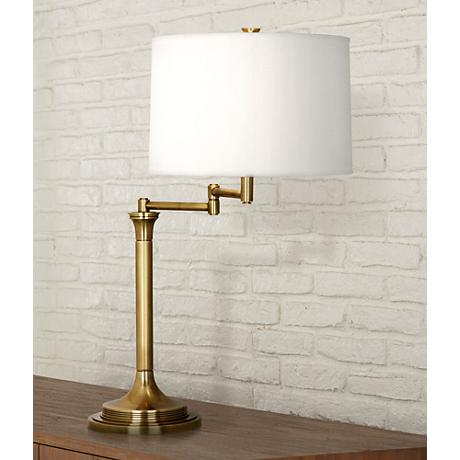 Robert Abbey Sofia Antique Brass Swing Arm Desk Lamp