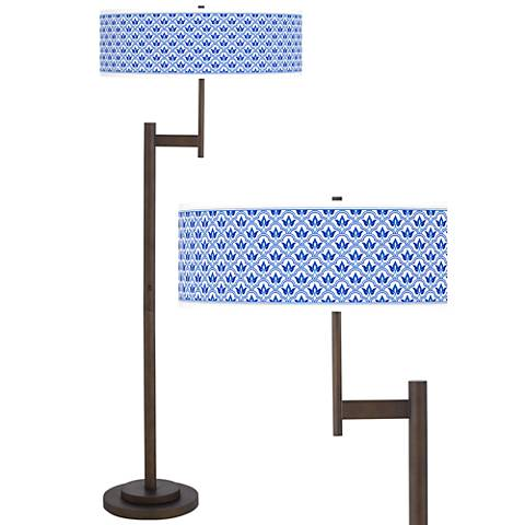 Arabella Giclee Parker Light Blaster™ Bronze Floor Lamp
