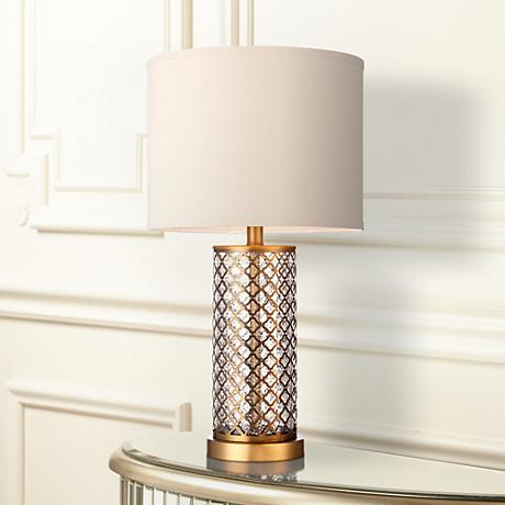 Alcazar Brass and Mercury Glass Table Lamp