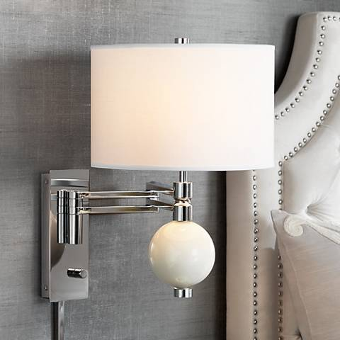 West Highland White Niko Swing Arm Wall Lamp