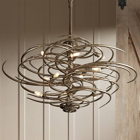 "Revolution Collection 44"" Wide Bronze Pendant"