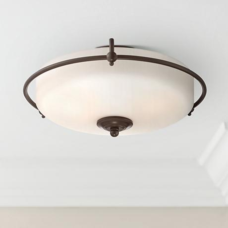 Quoizel Griffin Large Bronze Floating Ceiling Light