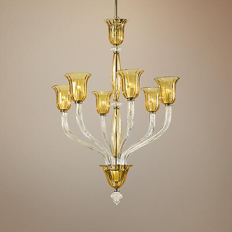 "Vetrai 31"" Wide Clear Chandelier"
