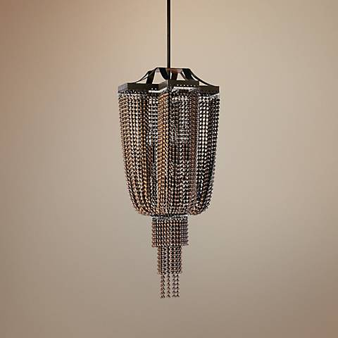 "Marcello 11"" Wide Oiled Bronze Mini Pendant"
