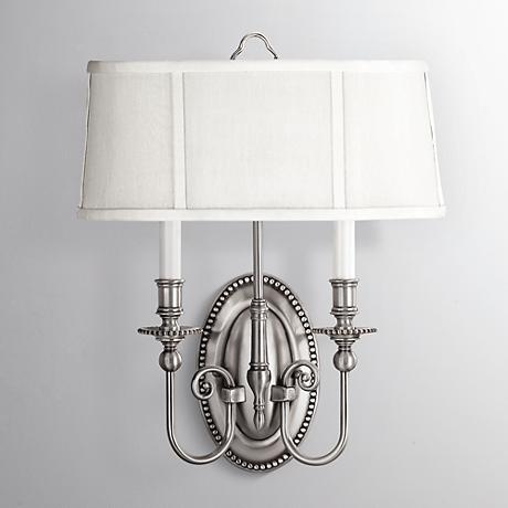 "Hinkley Cambridge 18"" High Pewter Wall Sconce"
