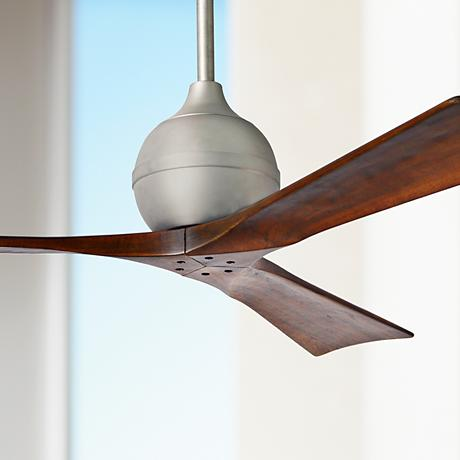"52"" Matthews Irene 3-Blade Walnut - Nickel Ceiling Fan"