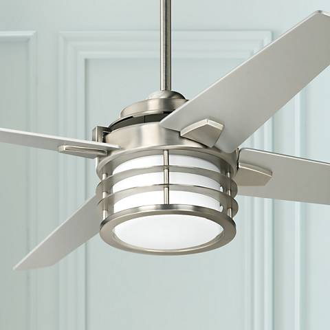 "52"" Casa Scion™ Brushed Steel LED Ceiling Fan"