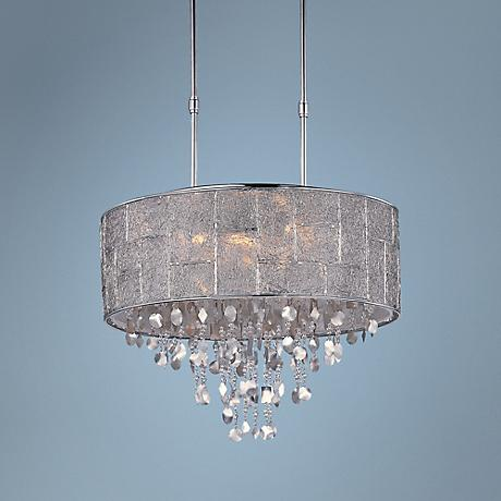 "Maxim Allure 22"" Wide Polished Nickel Pendant"