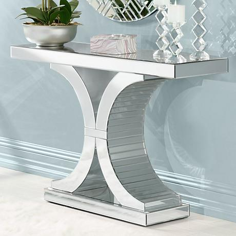 Giselle Mirrored Console Table