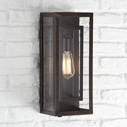 "Possini Euro Double Box 15 1/2""H Bronze Outdoor Light"