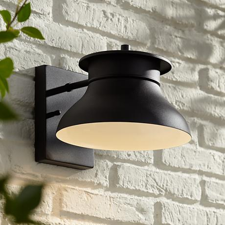 "LED Energy Efficient Black 7 1/2"" High Outdoor Wall Light"
