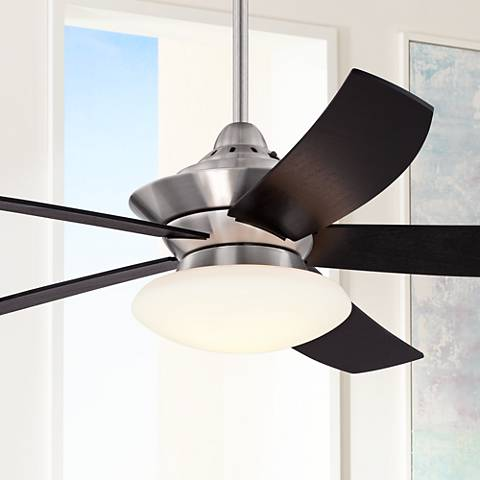 "52"" Casa Rogue™ Espresso - Brushed Nickel Ceiling Fan"