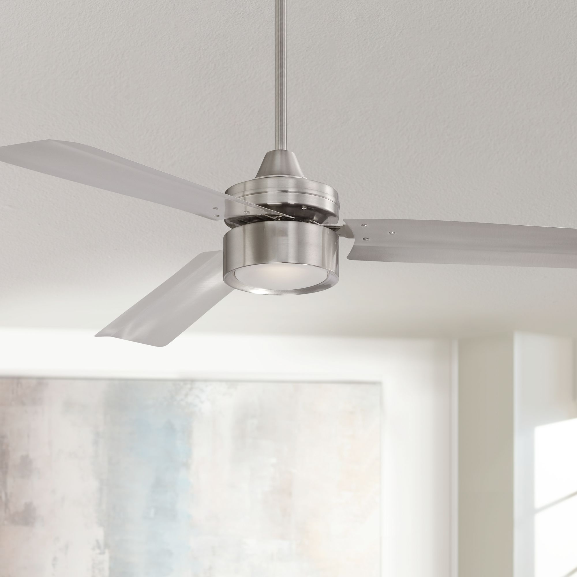 52  Casa Arcus™ Brushed Nickel LED Ceiling Fan & 52