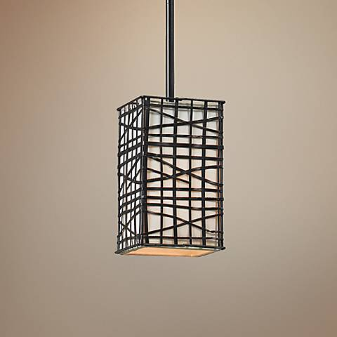 "Fortress 5"" Wide Bronze Mini Pendant"