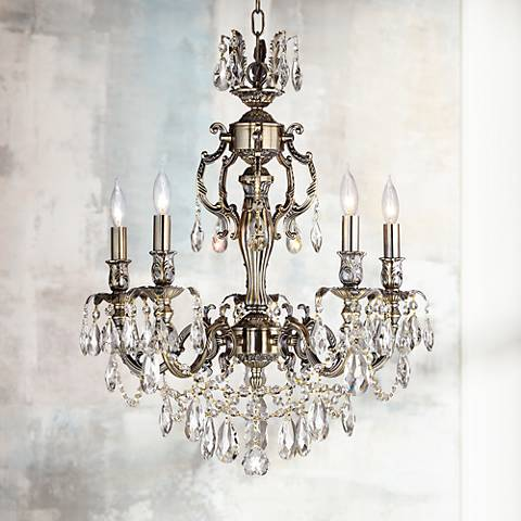 "James R. Moder Sierra 20"" Wide Antique Brass Chandelier"
