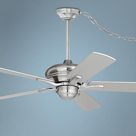 "44"" Casa Rosetta™ Brushed Nickel Swag Ceiling Fan"