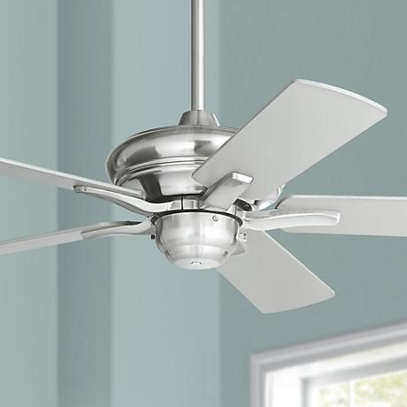 "44"" Casa Vieja Rosetta™ Brushed Nickel Ceiling Fan"