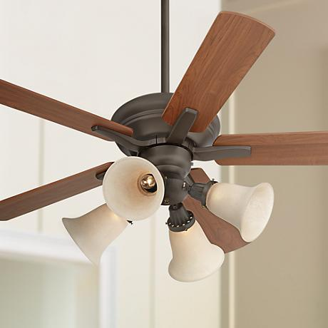 "44"" Casa Rosetta™ Scavo Glass - Bronze Ceiling Fan"