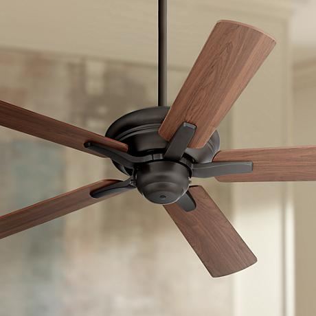 "44"" Casa Vieja Rosetta™ Oil-Rubbed Bronze Ceiling Fan"
