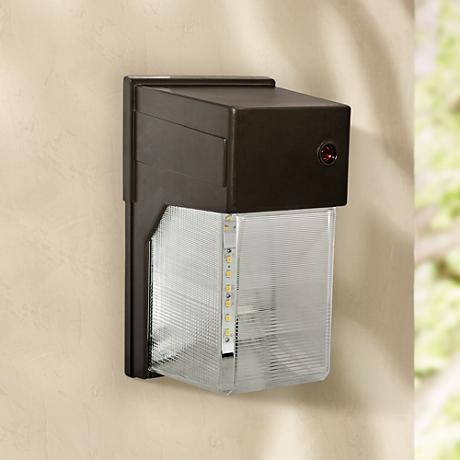 "Bronze 10 3/4""H Dusk to Dawn LED Outdoor Flood Light"