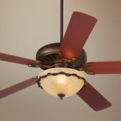 "60"" Casa Equinox Italian Bronze Light Kit Ceiling Fan"