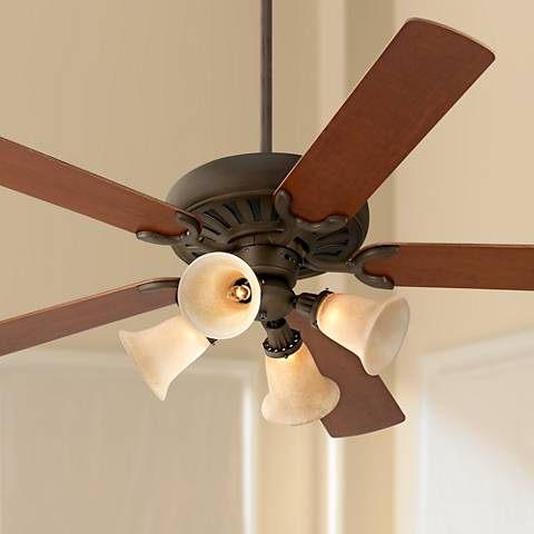 "60"" Casa Equinox Teak/Bronze Ceiling Fan with Light Kit"