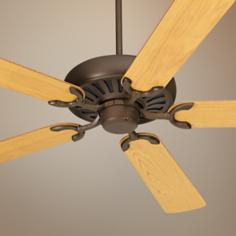 "60"" Casa Equinox Oil Rubbed Bronze Oak Blade Ceiling Fan"
