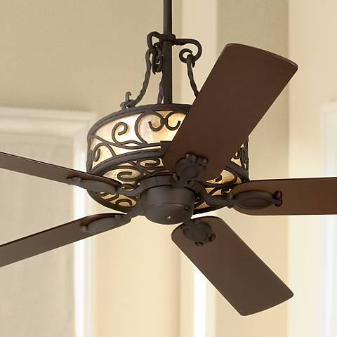 "60"" John Timberland Natural Mica Collection Iron Ceiling Fan"
