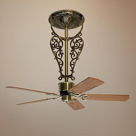 "52"" Fanimation Americana Antique Brass Filigree Ceiling Fan"