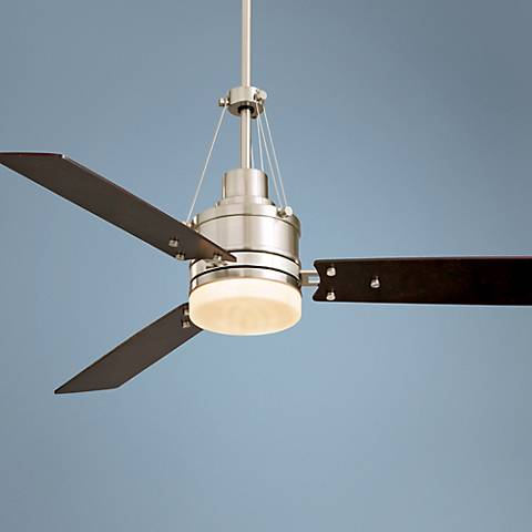 "54"" Highpointe Brushed Steel Finish Ceiling Fan"