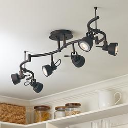 Pro Track 6-Light Bronze LED Track Fixture