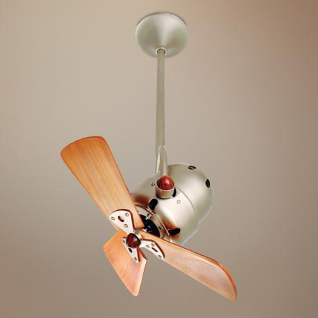 "16"" Matthews Bianca Directional Brushed Nickel Ceiling Fan"