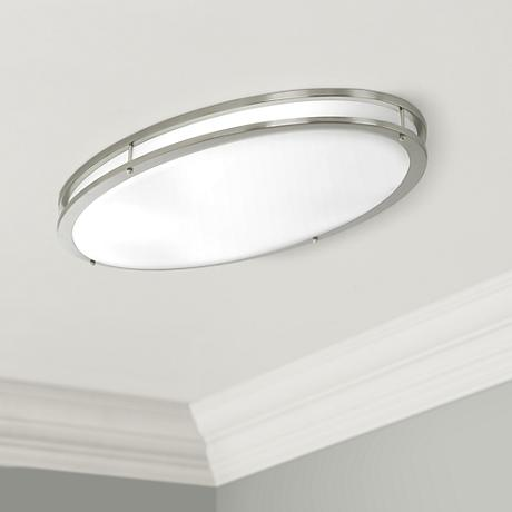 "ENERGY STAR® Fluorescent Oval 32 1/4"" Wide Ceiling Light"
