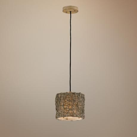 Naturals Knotted Rattan Mini-Pendant Chandelier