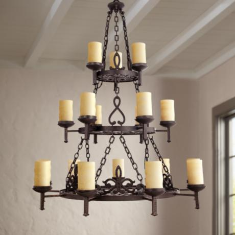 "La Parra Collection 47 1/2"" Wide Three Tiered Chandelier"