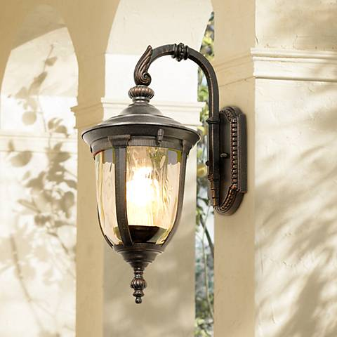 "Bellagio 16 1/2"" High Energy Efficient Downbridge Wall Light"