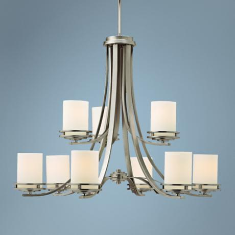 "Hendrik Nickel 33 1/2"" Wide 9-Light Chandelier"