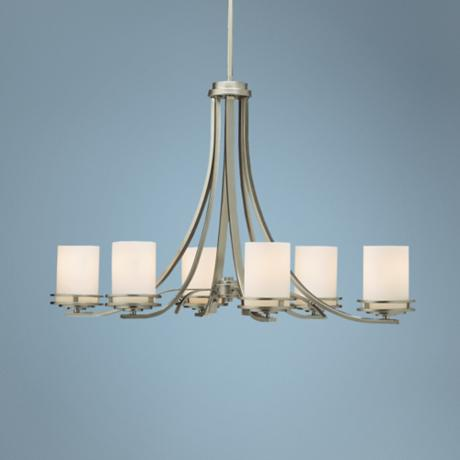 "Hendrik Nickel 36"" Wide 6-Light Oval Chandelier"