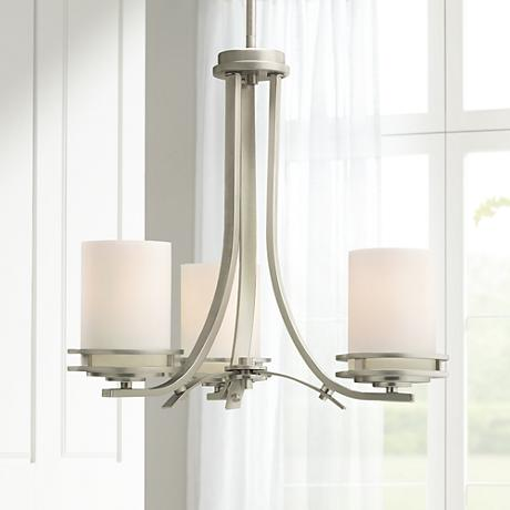 "Hendrik Nickel 19"" Wide 3-Light Chandelier"