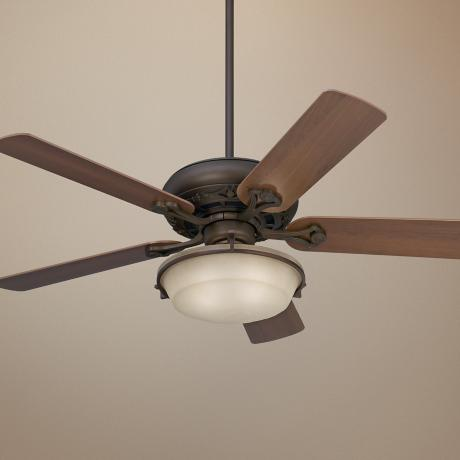 "52"" Casa Vieja Trilogy Bronze Ceiling Fan with Light Kit"