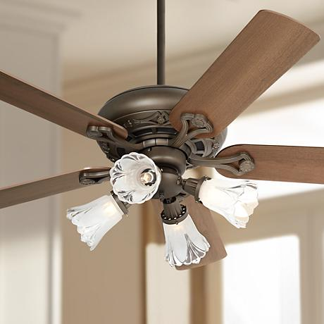 Casa Trilogy™ Frosted Glass Bronze Ceiling Fan