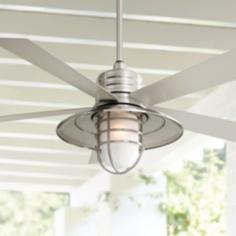"54"" Minka Aire Rainman Brushed Nickel Ceiling Fan"