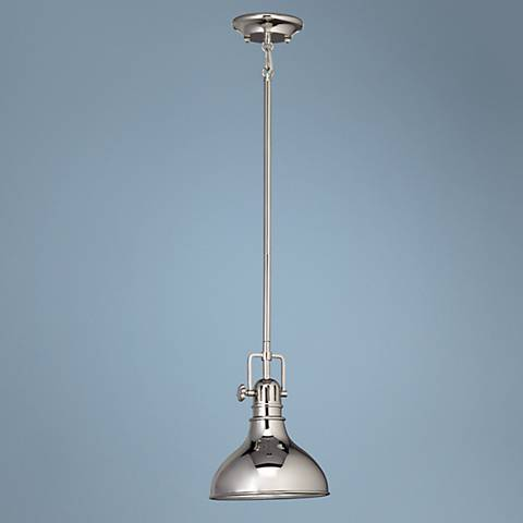 "Kichler Hybrid 8"" Wide Polished Nickel Mini Pendant"