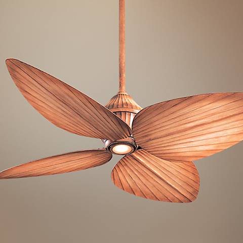 "52"" Minka Aire Indoor Outdoor Beige Gauguin Ceiling Fan"