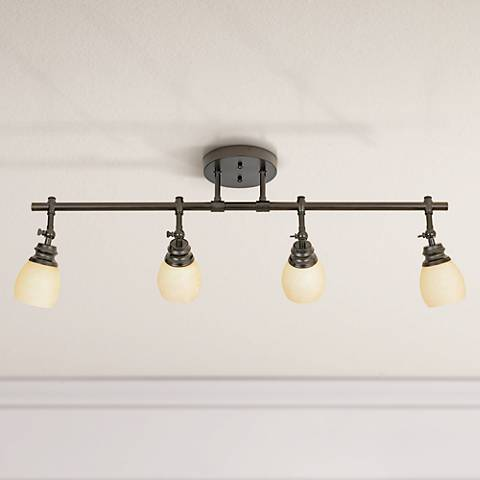 Elm Park 4-Head Bronze Track Wall or Ceiling Light Fixture